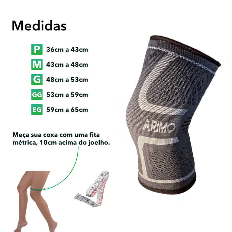 Medidas Joelheira ARIMO