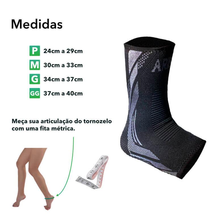 Medidas Tornozeleira Arimo