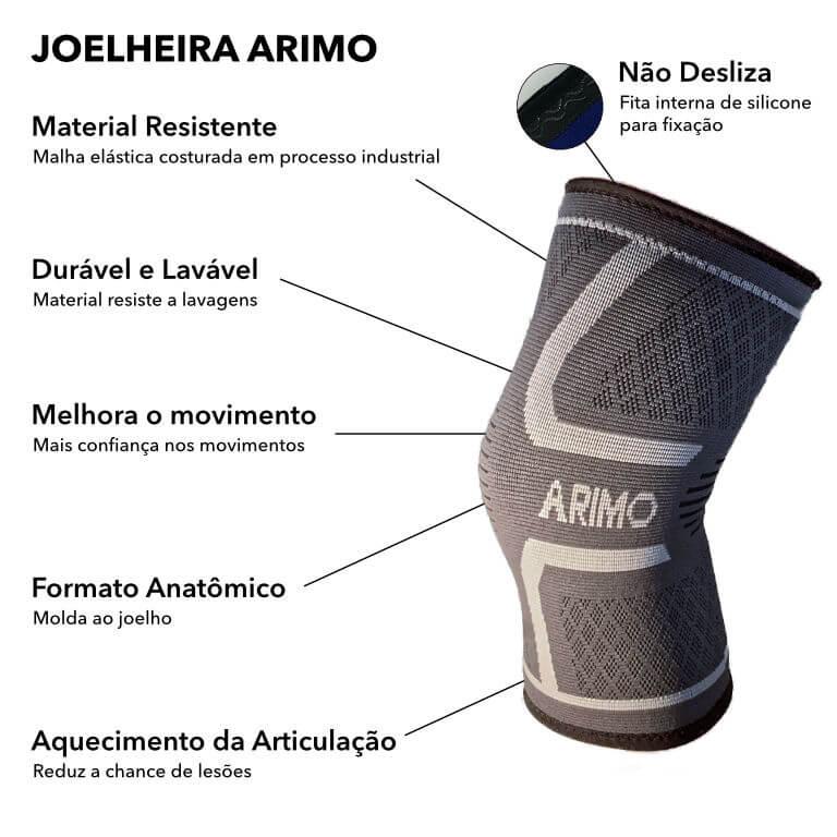 Detalhes Joelheira Arimo