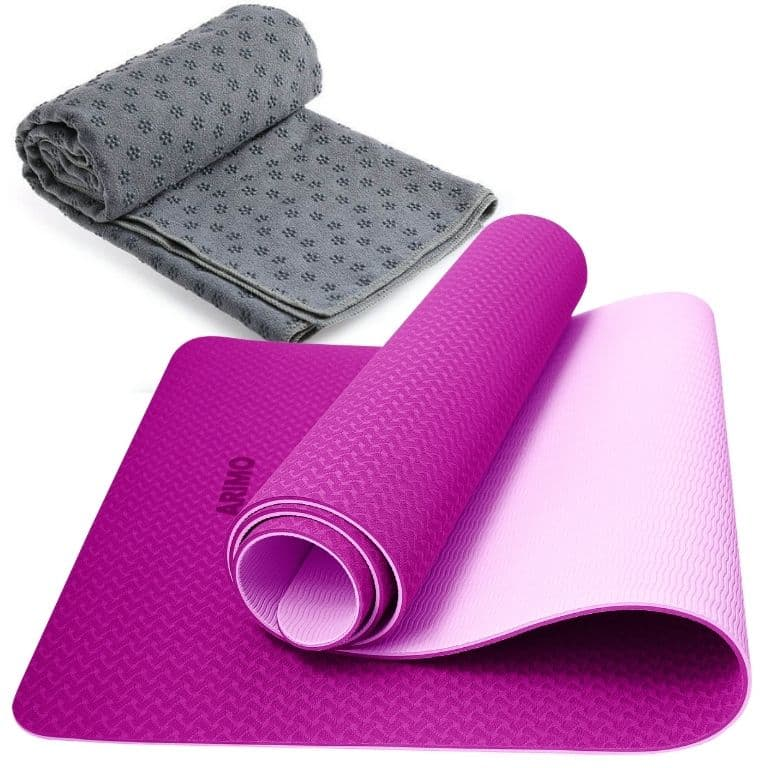 Kit Arimo Duo - Tapete de Yoga TPE + Toalha de Yoga