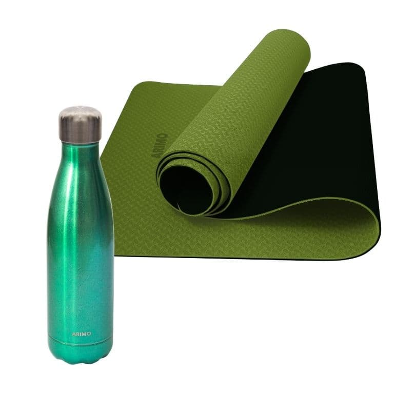 Kit Health Arimo - Tapete Yoga TPE + Garrafa Arimo Eco