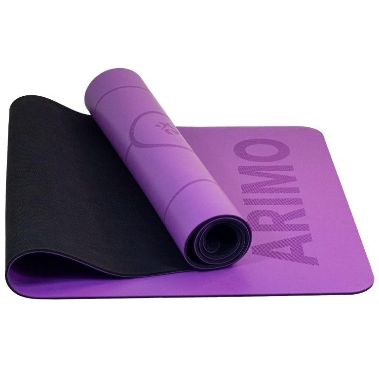 Arimo Balance Tapete de Yoga Roxo Lines PU + Borracha Natural